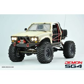 CROSS CZRSG4C  SG4C Demon 4x4 Crawler Kit, w/ Hard Body and CNC Gears, 1/10 Scale