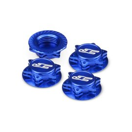J Concepts JCO2451-1  J Concepts Fin 1/8th Serrated Light-Weight Wheel Nut, Blue (4pc)