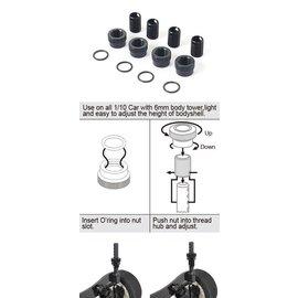 BLITZ 60603-V3  Blitz Adjustable Body Post (4 sets)