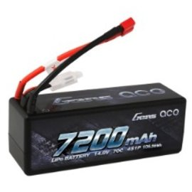 Gens Ace Gens Ace 7200mAh 14.8V 70C 4S1P HardCase Lipo Battery 14# with Deans plug