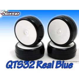 SWEEP 2732417  10th TC QTS32 Real/TRUE Blue pre glued 4pc tire set