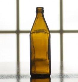 BSG 16 oz Amber Belgian Beer Bottles, crown finish, case of 12