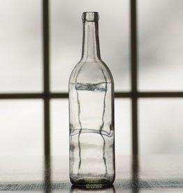 Wine 750 ml Clear Flint Claret Bottles Case/12