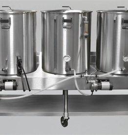 Beer Horizontal Brew System - Electric Turnkey - 1BBL Batch Size