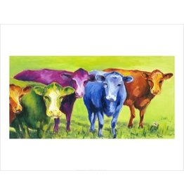Vivid Print Ann Waeland | Coloured Cows