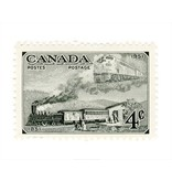 Vivid Print Canada Trains Stamp