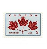 Vivid Print Canada Maple Leaves Stamp