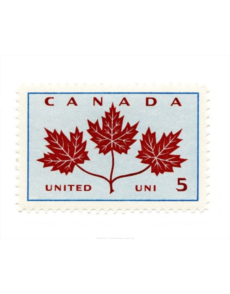 Vivid Print Canada Maple Leaves Stamp