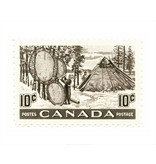 Vivid Print Canada Fur Resources Stamp