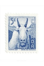 Vivid Print Canada Mountain Goat Stamp