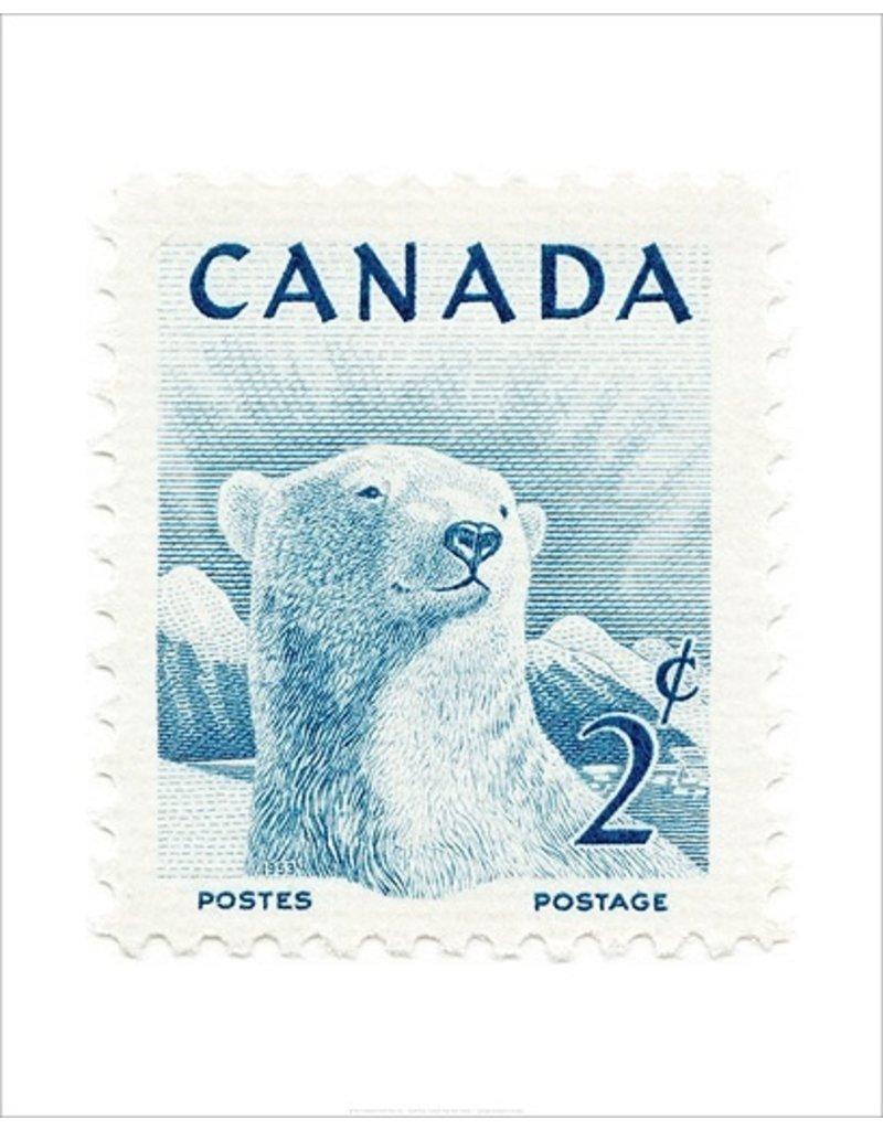 Vivid Print Canada Polar Bear Stamp