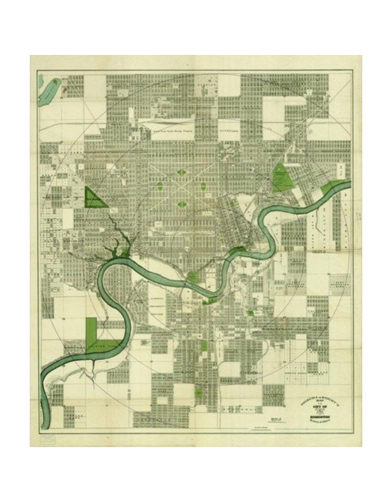 Vivid Archives Driscoll & Knight Edmonton Map 1912