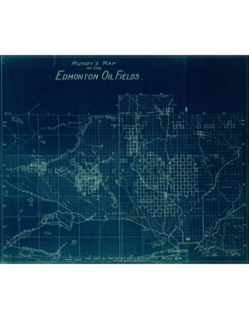Vivid Archives Mundy's Map of Edmonton Oil Fields