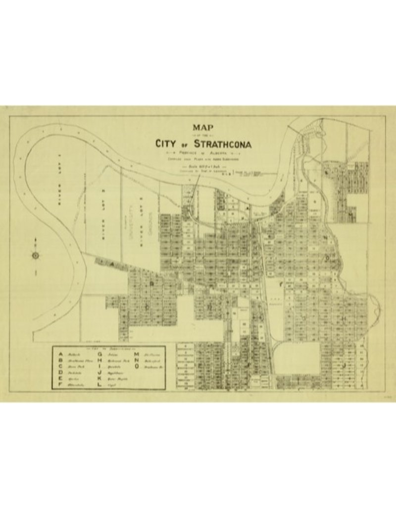 Vivid Archives City of Strathcona Map 1907