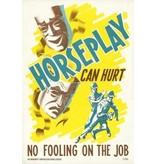 Vivid Print Horseplay Can Hurt Poster