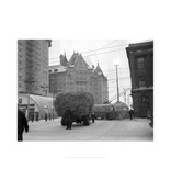 Vivid Archives Truck of Hay Stalled on Jasper Avenue January 20, 1952