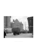 Vivid Archives Truck of Hay Stalled on Jasper Avenue January 20, 1952
