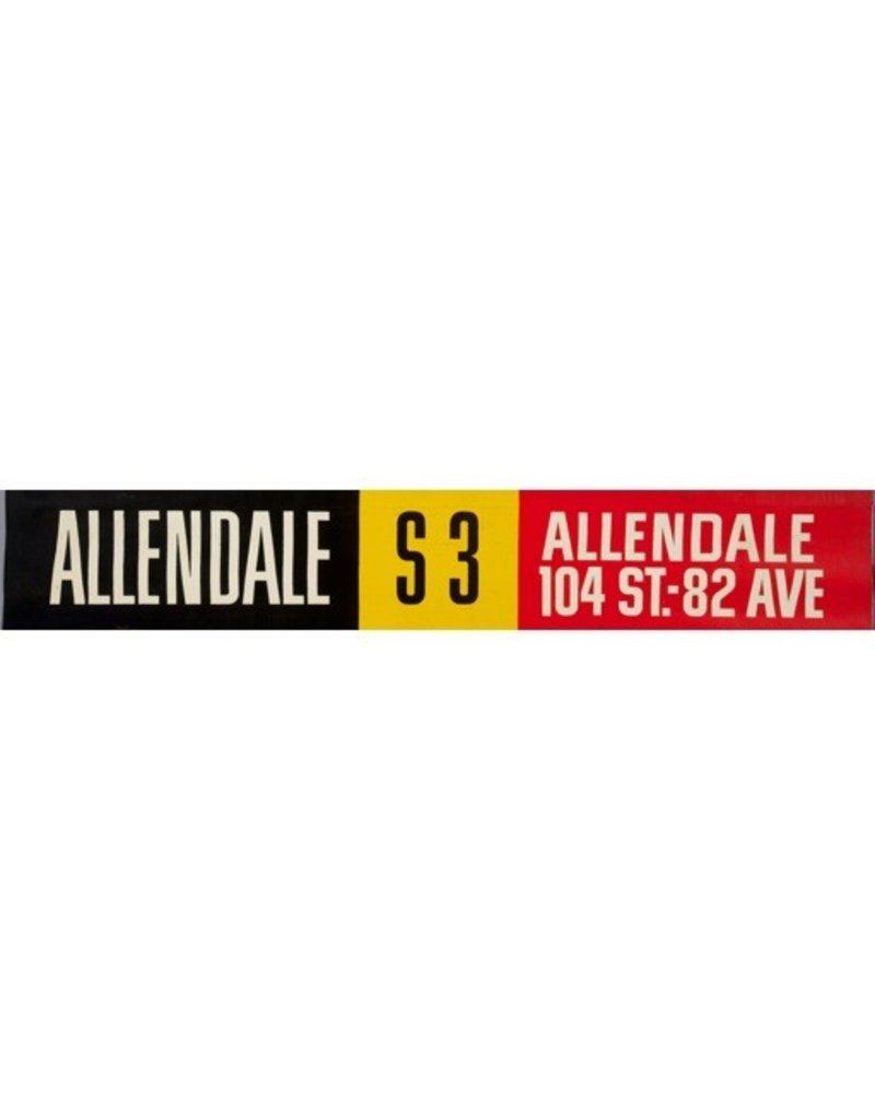 Vivid Print ETS Single Destination   Allendale / Allendale 104 St-82 Avenue