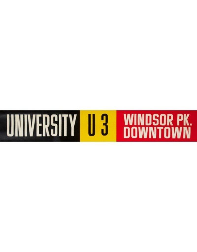 Vivid Print ETS Single Destination   University / Windsor Pk. Downtown