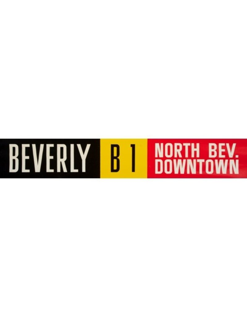 Vivid Print ETS Single Destination   Beverly / North Bev. Downtown