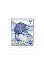 Vivid Print Canada Beaver Stamp