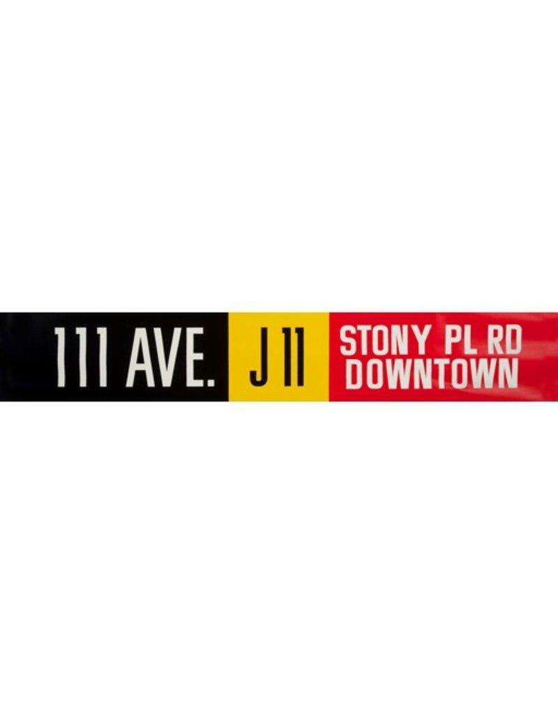 Vivid Print ETS Single Destination   111 Ave. / Stony Pl Rd Downtown