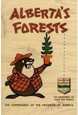 Vivid Print Alberta's Forests Bertie Beaver