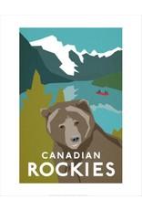 Vivid Print Bee Waeland   Canadian Rockies