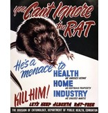 Vivid Print You Can't Ignore the Rat Poster