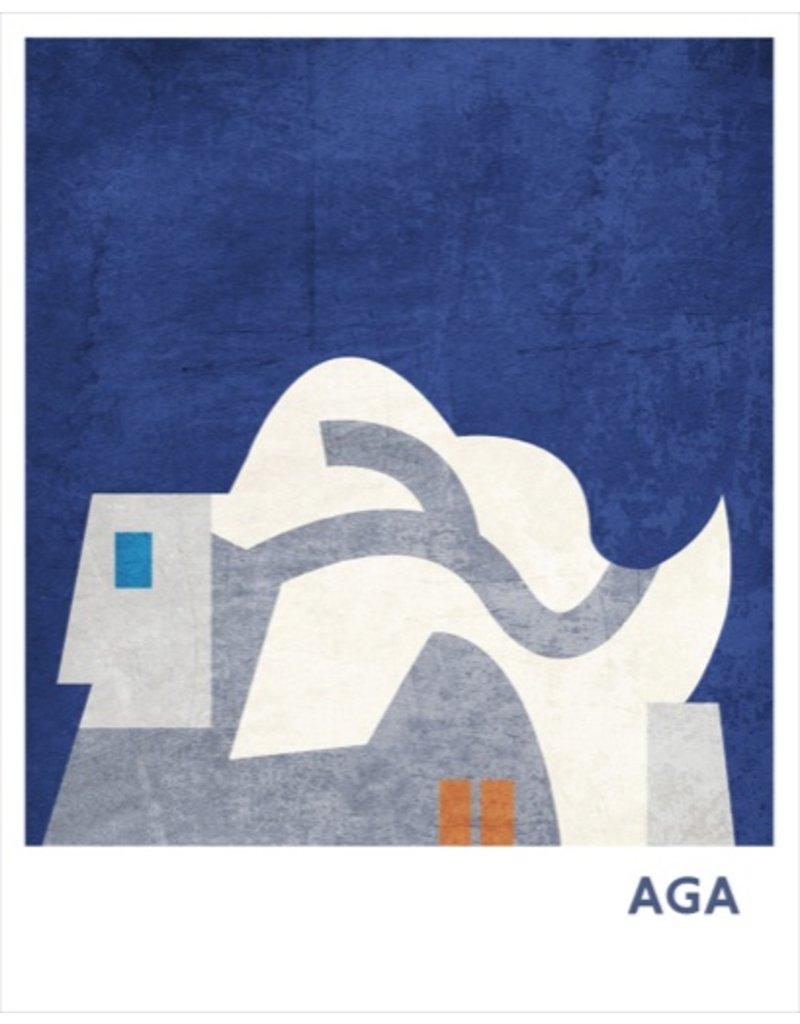 Vivid Print Bee Waeland   AGA Two