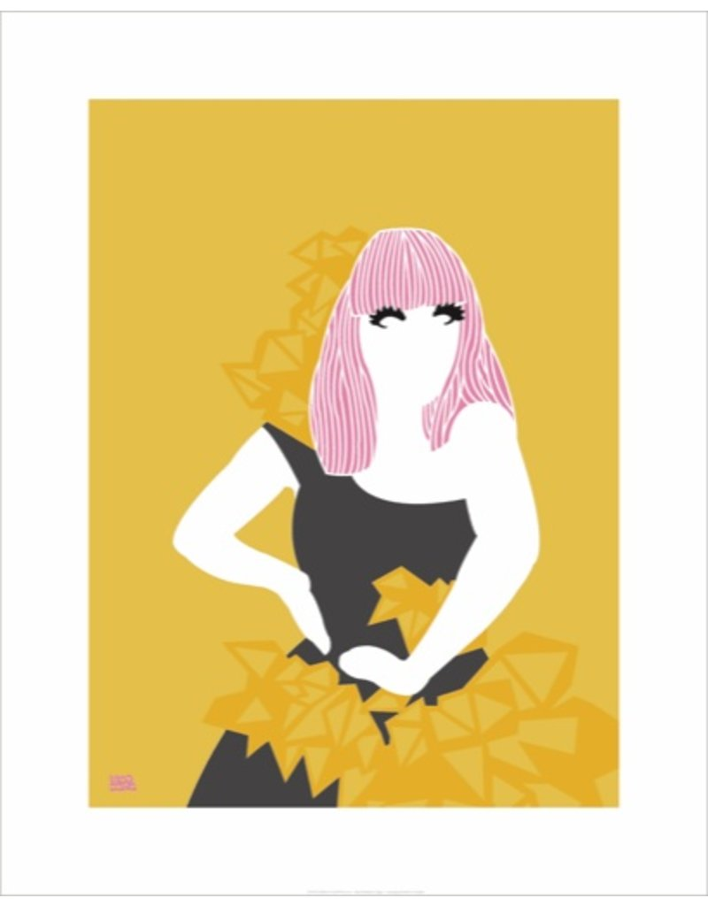 Vivid Print Bee Waeland | Lady Gaga