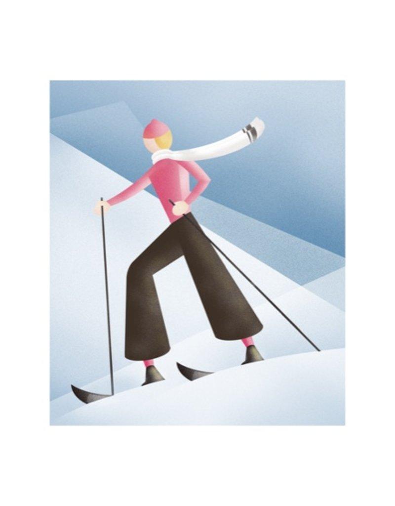 Vivid Print Bee Waeland | Ski Banff