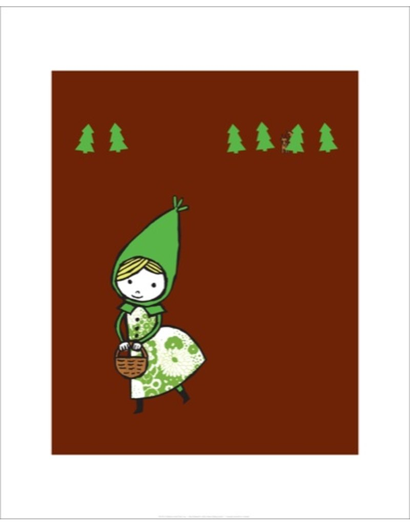 Vivid Print Bee Waeland   Little Green Riding Hood