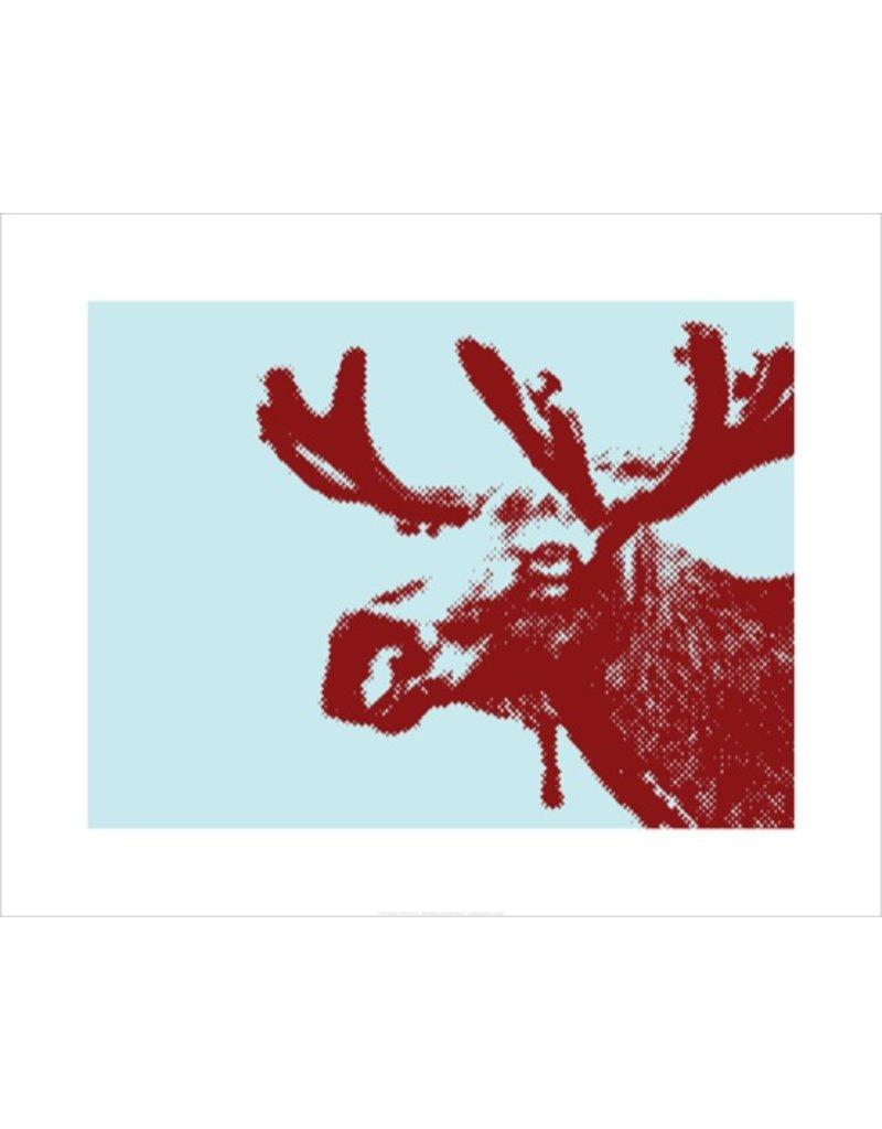 Vivid Print Bee Waeland | Hinterland Moose