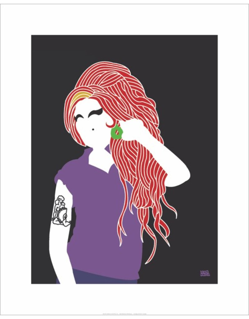 Vivid Print Bee Waeland | Amy Winehouse