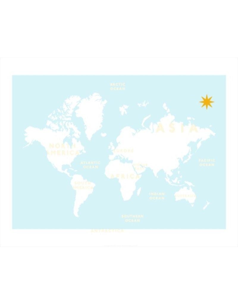 Vivid Print Bee Waeland | Blue and Yellow World