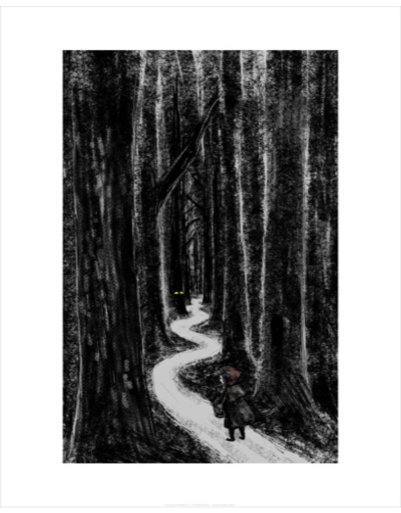 Vivid Print Bee Waeland | Dark Riding Hood