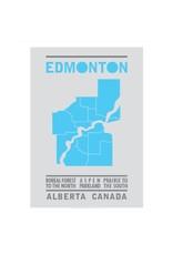 Vivid Print Bee Waeland   Edmonton Map Blue