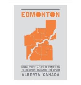 Vivid Print Bee Waeland | Edmonton Map Orange