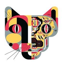 "Vivid Print Raymond Biesinger | Feline Anatomy 20"" Square Silkscreened Print"