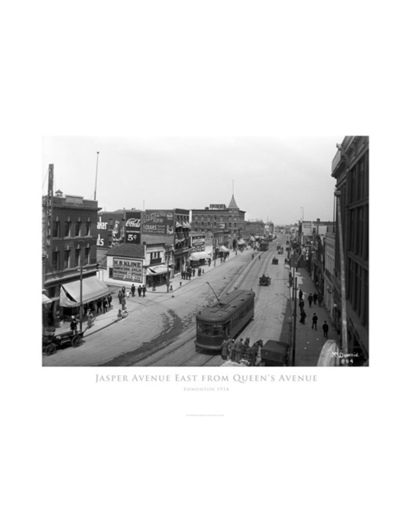 Vivid Archives Jasper Avenue East from Queen's Avenue 1914 Poster