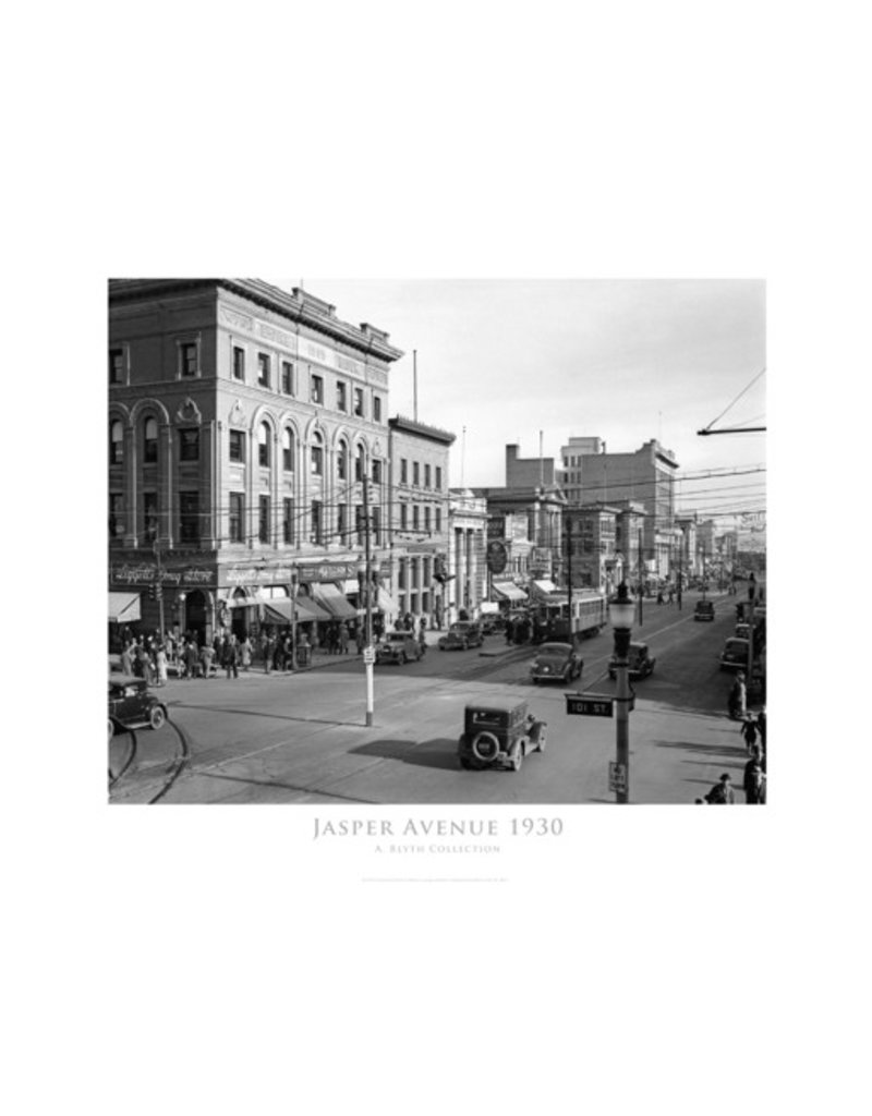 Vivid Archives Jasper Avenue Looking East 1930 Poster