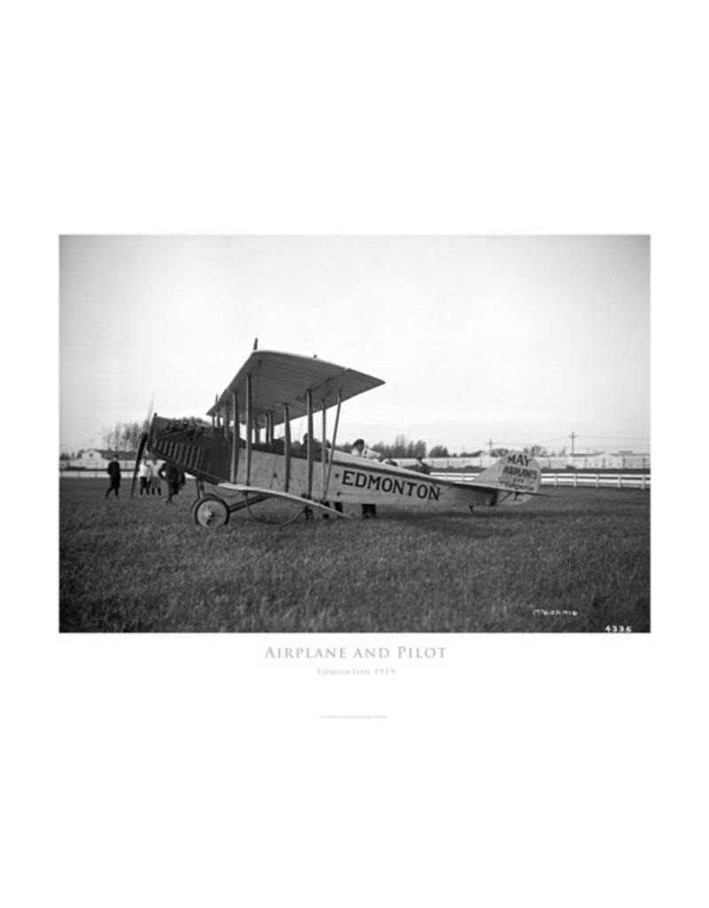 Vivid Archives Airplane and Pilot 1919 Poster