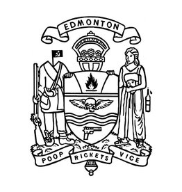 Vivid Print Raymond Biesinger   Edmonton Civic Crest 17 x 21 Digital Print