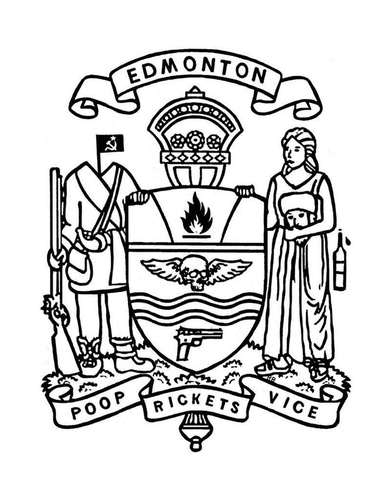 Vivid Print Raymond Biesinger | Edmonton Civic Crest 17 x 21 Digital Print