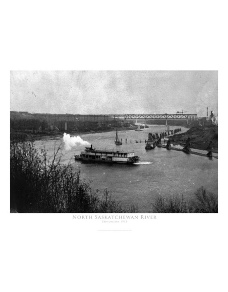 Vivid Archives North Saskatchewan River 1913 Poster