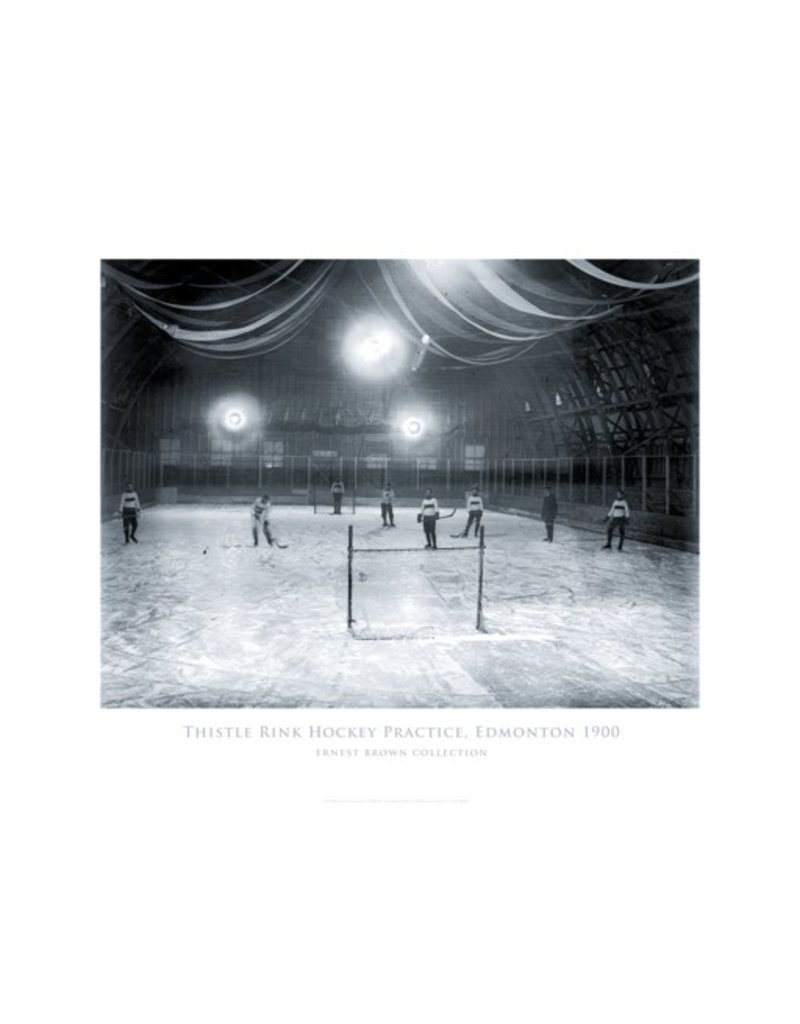 Vivid Archives Thistle Rink Hockey Practice Edmonton 1900 Poster
