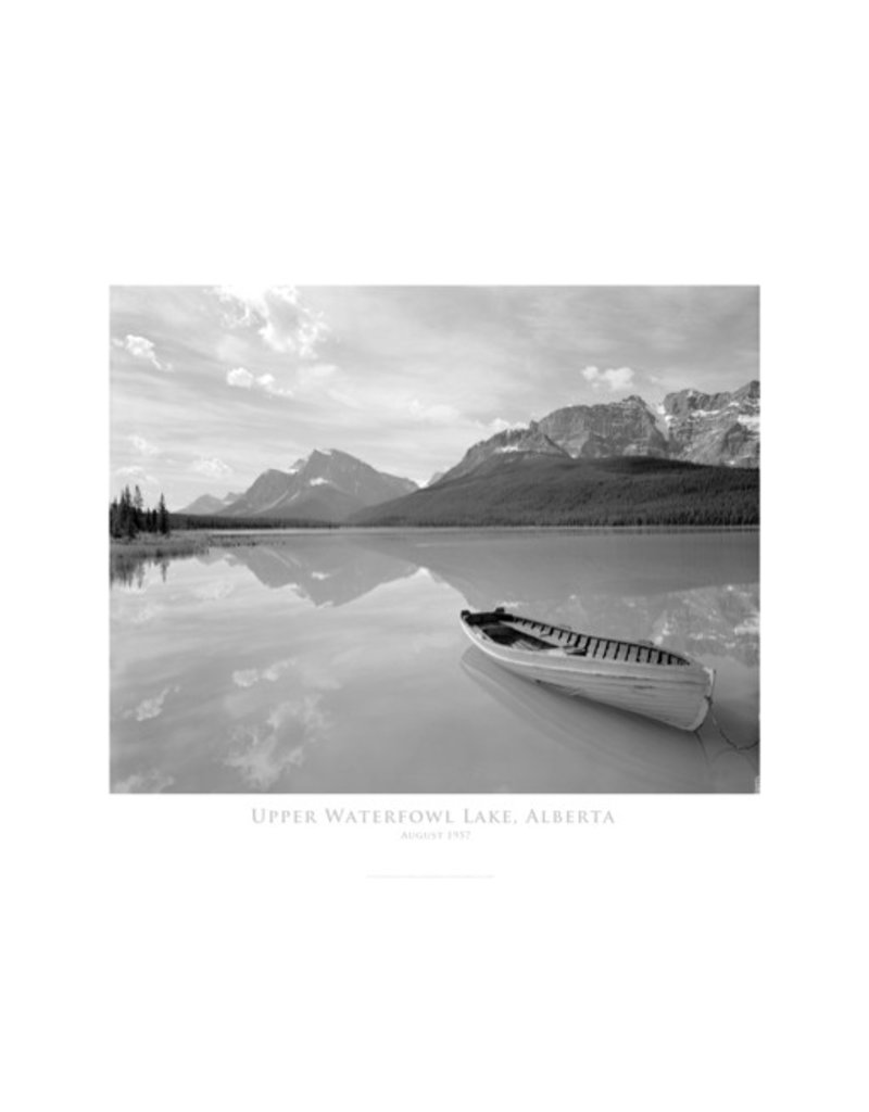 Vivid Archives Upper Waterfowl Lake August 1957 Poster