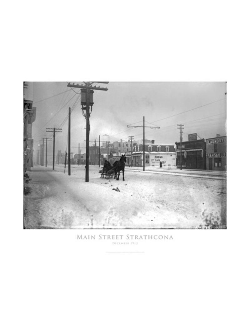 Vivid Print Main Street Strathcona 1913 Poster