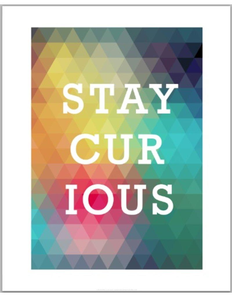 Vivid Print Bee Waeland | Stay Curious